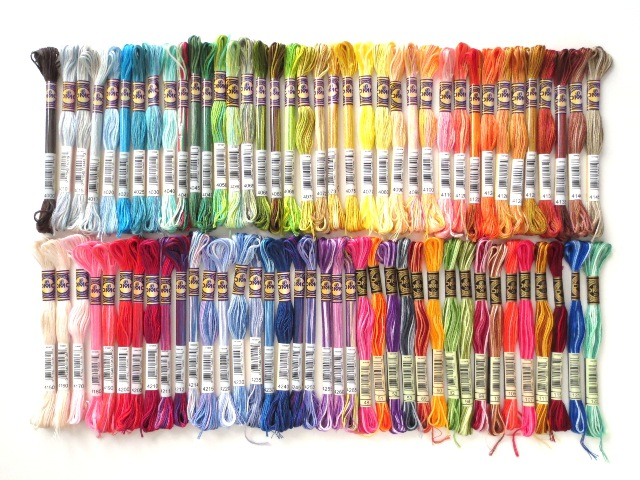 ancora crafts all 76 colors of DMC variegated floss