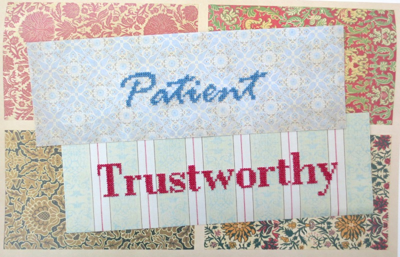 cross stitch on paper BeMores Set 2 patient and trustworthy