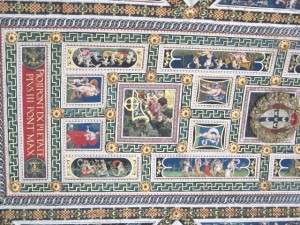 benefits of traveling - portion of the ceiling of the Piccolimini Library, Duomo di Siena, Italy