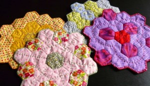 acrafty interview craftypod quilted hexagon coasters