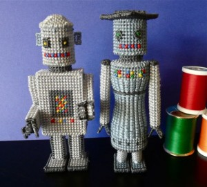 acrafty interview craftypod plastic canvas robots