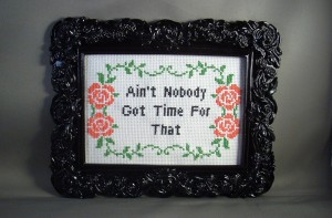 ACrafty Interview - Katie Kutthroat ain't nobody got time for that cross stitch
