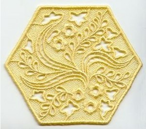 hexagon crafts part 2 - hexagon machine embroidery lace pattern from embroidery library