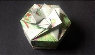hexagon crafts part 2 - hexagon origami box with lid