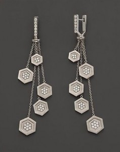 hexagon crafts - hexagon earrings by india hicks