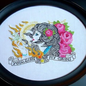 ACrafty Interview - Katie Kutthroat your ruin may gain embroidery