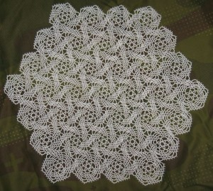 acrafty interview - jeff hamilton tatted windmills doily