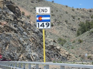 colorado highway 149 road sign