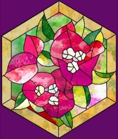 hexagon crafts part 3 - geometric bougainvillea