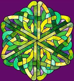 hexagon crafts part 3 - celtic knot stained glass