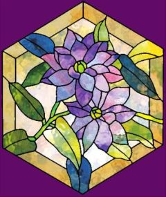 hexagon crafts part 3 - clematis stained glass