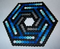 hexagon crafts part 3 - perler beads