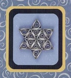 hexagon crafts part 3 - quilled hexagon star of david