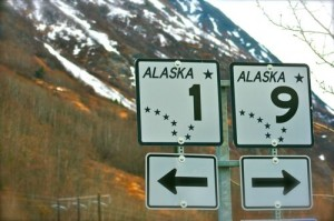 alaska cross stitch pattern highway sign highway 1 and highway 9 junction