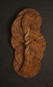 acrafty interview - tinas baskets circle and curves wall hanging