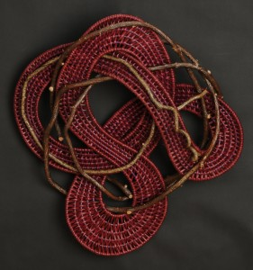 acrafty interview - tinas baskets musical note woven wall hanging