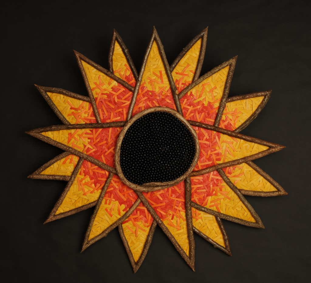 acrafty interview - tinas baskets sunshine sunflower woven wall hanging