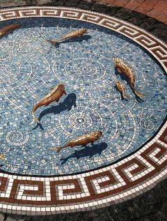 healthy water crafts - croydon fishpond mosaic tile trompe l'oeil by gary drostle