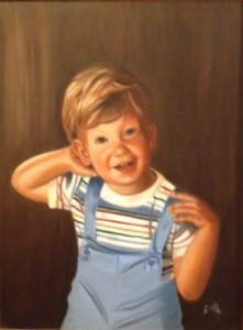 acrafty interview - linda martin painting of son jason