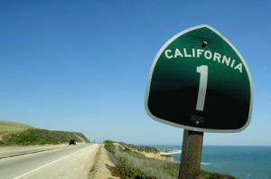california highway 1 road sign