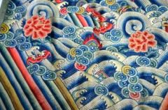 healthy water themed crafts part 2 - embroidered Chinese silk jifu robe