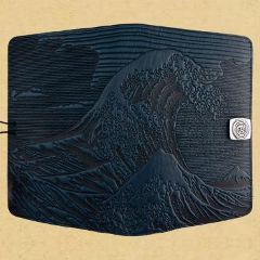 healthy water themed crafts part 3 - hokusai leather kindle cover