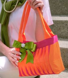 healthy water crafts - wave tucked preppy handbag