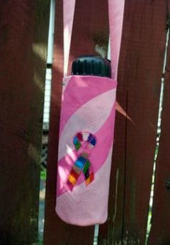 healthy water crafts - sewn water bottle carrier