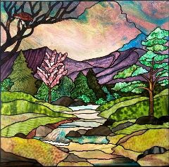 healthy water crafts - stained glass river by jini