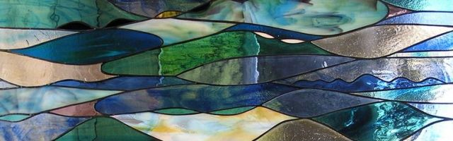 healthy water themed crafts part 2 - stained glass river by pandy mill