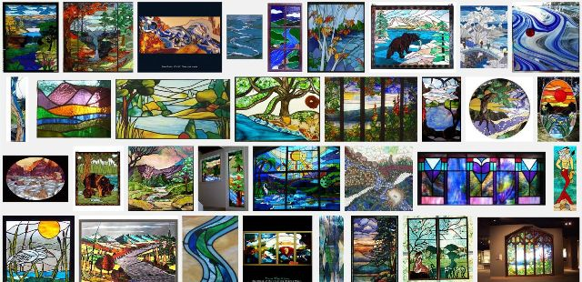 healthy water themed crafts part 2 - google result on stained glass river