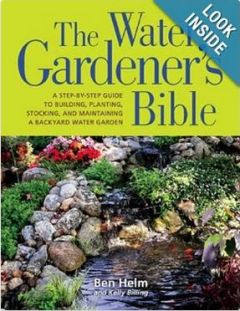 healthy water themed crafts part 3 - cover of water gardeners bible book
