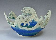 healthy water crafts - wave rim bowl by bonnie belt
