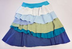 healthy water crafts - sewn layered wave skirt