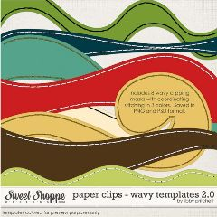 healthy water themed crafts part 2 - wavy templates for scrapbooking