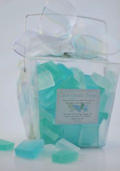 healthy water themed crafts part 5 - sea glass soap