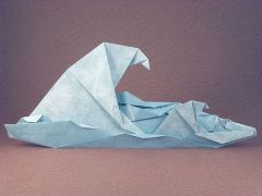 healthy water themed crafts part 6 - wave origami