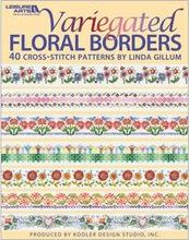 variegated floss projects - floral borders book