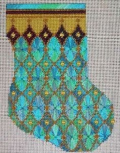 variegated floss projects - venetian glass stocking
