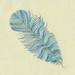 variegated floss projects - machine feather