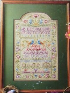 variegated floss projects - cross stitch sampler