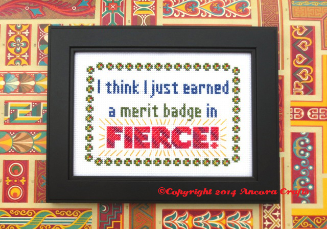 craig ferguson cross stitch pattern I think I just earned a merit badge in fierce!