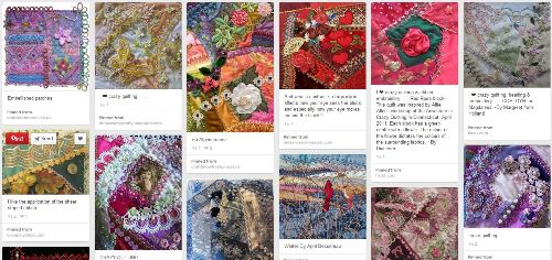 variegated floss projects part 2 - pinterest crazy quilt embroidery