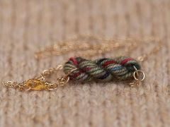 variegated floss projects part 3 - mini yarn skein pendant necklace