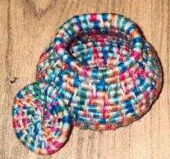 variegated floss projects part 5 - variegated thread coiled basket
