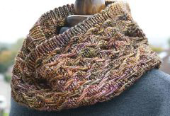 variegated floss projects part 4 - knit cowl
