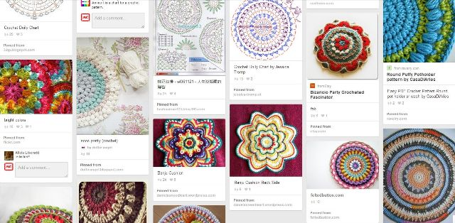 variegated floss projects part 5 - pinterest crochet mandalas