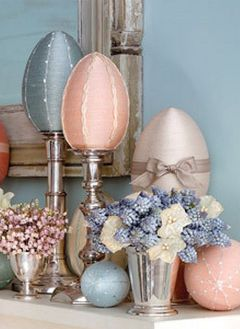 variegated floss projects part 6 - martha stewart thread wrapped easter eggs