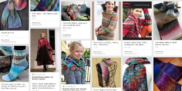 variegated floss projects part 4 - pinterest board of noro projects