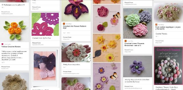 variegated floss projects part 5 - pinterest crochet flower board